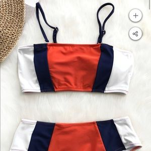 Two piece bathing suit NWT